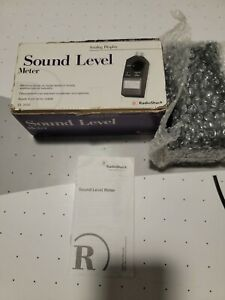 Analog Realistic radio Shack 33 2050 Sound Level Meter W Case Tested And Works