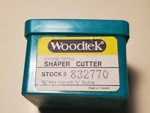 Woodteck 832770 Finger Pull Carbide Tipped Shaper Cutter 3 4 Bore 1 2 Bushing