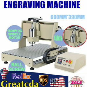 4 Axis Usb 6040 Cnc Router Engraver Metal Drill Milling Machine 3d Cutter 1 5kw