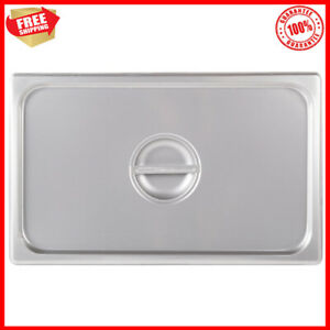 24 Gauge Full Size Stainless Steel Rectangle Solid Steam Table Hotel Pan Cover