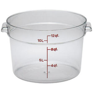 Cambro 12 Qt Camwear Round Food Storage Containers 6pk Clear Rfscw12 135