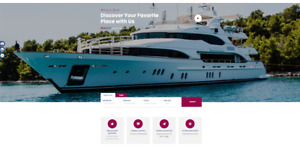 Booking Website template For Travel Tour Yacht Charter Events