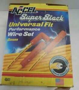 Accel Super Stock 8mm Spark Plug Wires 6 Cylinder Cut To Fit 90 Degree