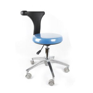 Pu Leather Medical Dental Chair Stool Mobile Chair 360 Adjustable For Sale