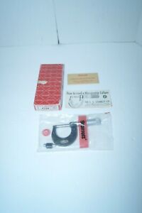 Starrett No 436 1 In Micrometer With Case Nos