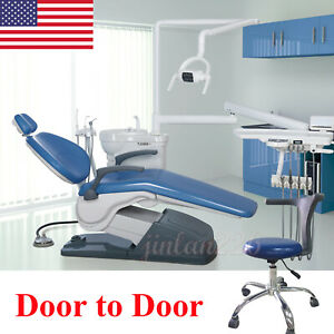 Dental Unit Chair Hard Leather Computer Controlled Dc Motor stool Handpieces