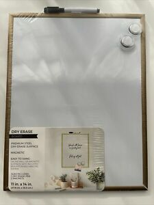 Magnetic Dry Erase Board 11 X 14 Inches Gold Frame New