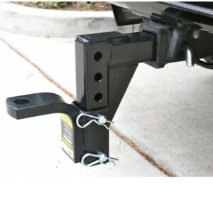 Adjustable Ball Mount Carry Towing Receiver Hitch Tow Truck Trailer Camper Black