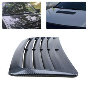 Auto Car Fake Carbon Fiber Look Decorative Air Vent Hood Scoop Sticker Grille Fits 2005 Ford Mustang