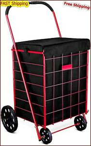 Laundry Grocery Shopping Cart Liner Rolling Utility Wheel Basket Hood Bag Cover
