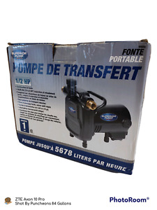 Superior Cast Iron Portable Water Transfer Pump 1 2 Hp