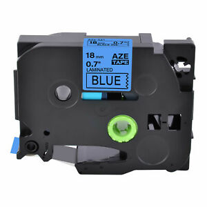 1pk Compatible Brother P touch Tz 541 Tze 541 Black On Blue Label Tape 0 7