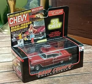 Muscle Car Review Road Champs 1955 Chevy Bel Air 143 Die Cast Limited Edition