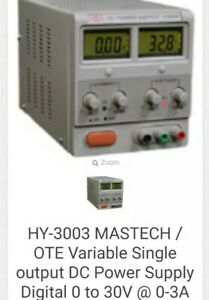 Ote Mastech Hy3003 Benchtop Variable Linear Dc Power Supply 110vac