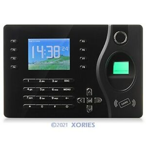 Biometric Fingerprint Rfid Card Attendance Time Clock With Pc Software tcp ip