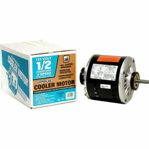 Dial 2 speed 1 2 Hp 115 Volt Permanently Lubricated Evaporative Cooler Motor