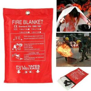 Emergency Fire Blanket Quick Release In Case For Home Office Y2t1 1mx1m H8z6