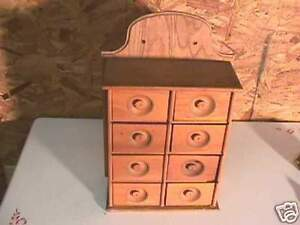 Antique Wood 8 Drawer Spice Cupboard