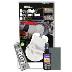 Flitz Headlight Plastic Restoration Kit hr 31501