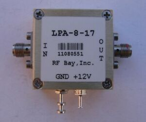 10 8000mhz Wideband Rf Amplifier Lpa 8 17 New Sma