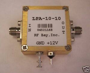 100mhz 10ghz Wideband Rf Amplifier Lpa 10 10 New Sma