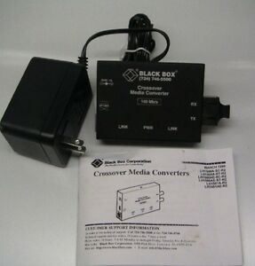 Crossover Media Converters black Box Corporation Lh1500a sc