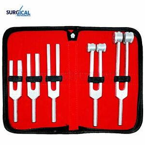 Tuning Fork Set Of 5 Medical Surgical Diagnostic Instruments Carrying Case