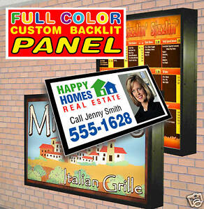 Replacement Outdoor Backlit Lightbox Sign Panel With Your Custom Graphic 48 x72