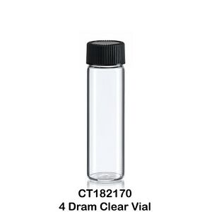 100 Clear Glass Vials 15 Ml W Screw Caps 21 X 70 Mm 4 Dram 1 2 Oz 2 75