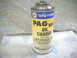 Napa Pag 100 Oil Charge Part 409513 For R134a