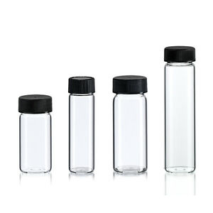 24 Asst Glass Vial Bottles 4 Sizes 6 10 Dram Clear