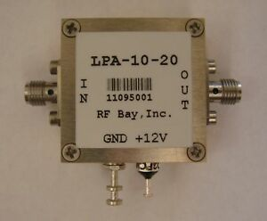 100khz 10ghz Wideband Rf Amplifier Lpa 10 20 New Sma
