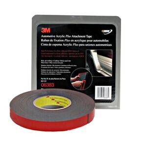 3m Automotive Acrylic Plus Attachment Tape Black 7 8 X 20 Yds Mmm6383 New