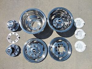 16 16 5 Ford F350 Dually Wheel Hubcaps Bolt On