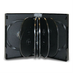 20 Multi 12 Discs 39mm Black Cd dvd Case Hold