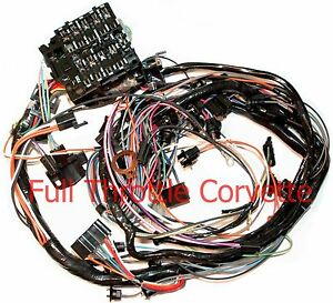 1976 Corvette Dash Wiring Harness For Vettes With Manual 4 Sp Transmission New