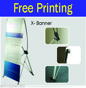 Trade Show X Banner Trade Display 24 X 62 5 Free Graphic Printing X banner