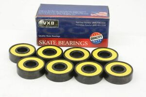 Cool 8 Skateboard Ceramic Set Sealed Zro2 Deep Groove Radial Ball Bearings