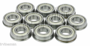 10 Flanged Fr6zz 3 8 x 7 8 x 9 32 Fr6z Inch Miniature Ball Radial Ball Bearings