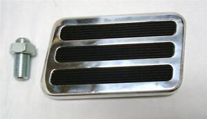 Extra Large Street Rod Brake Pedal Foot Pad Chevy Ford Xl Rubber Inserts Sedan