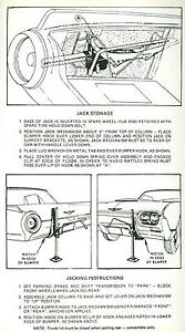 1961 Ford Thunderbird Jack Instruction Decal