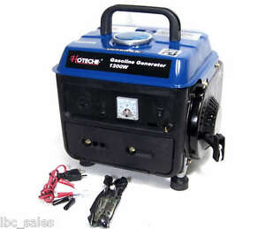 1200 W Portable Gasoline Electric Gas Generator Power 2 Stroke Rv Camping Epa