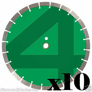 10 14 Diamond Saw Blade 4 Concrete Brick Block Stone Rock Masonry 15mm