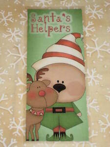 Primitive Christmas Winter Laminated Bookmark Santa S Helper Elf Reindeer Cl12 5
