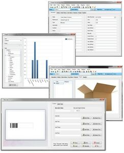 Stock Room Inventory Shipping Box Package Supply Tracking Database Software Cd