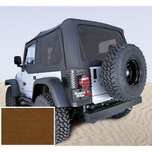 Xhd Tan Replacement Soft Top For Jeep Wrangler Tj 1997 06 13724 33 Rugged Ridge