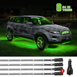 8pc Green Underglow Undercar Truck Decoration Lights usa Seller Fast Shipping