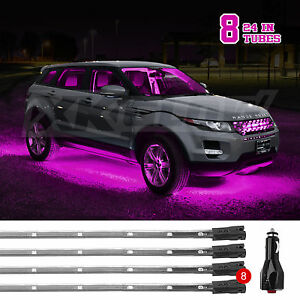 New Gen Under Car Truck Suv Boat Underglow Tube Lights Wide Angle Led Pink