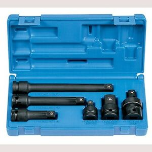 Grey Pneumatic 2200 1 2 Inch Drive Impact Adapter And Extension Set 6pc
