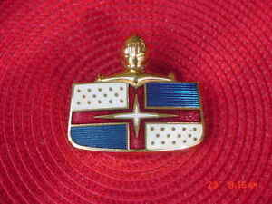 1949 50 51 Lincoln Nos Hood Medallion Emblem Red Blue White Gold Cloisonne Star
